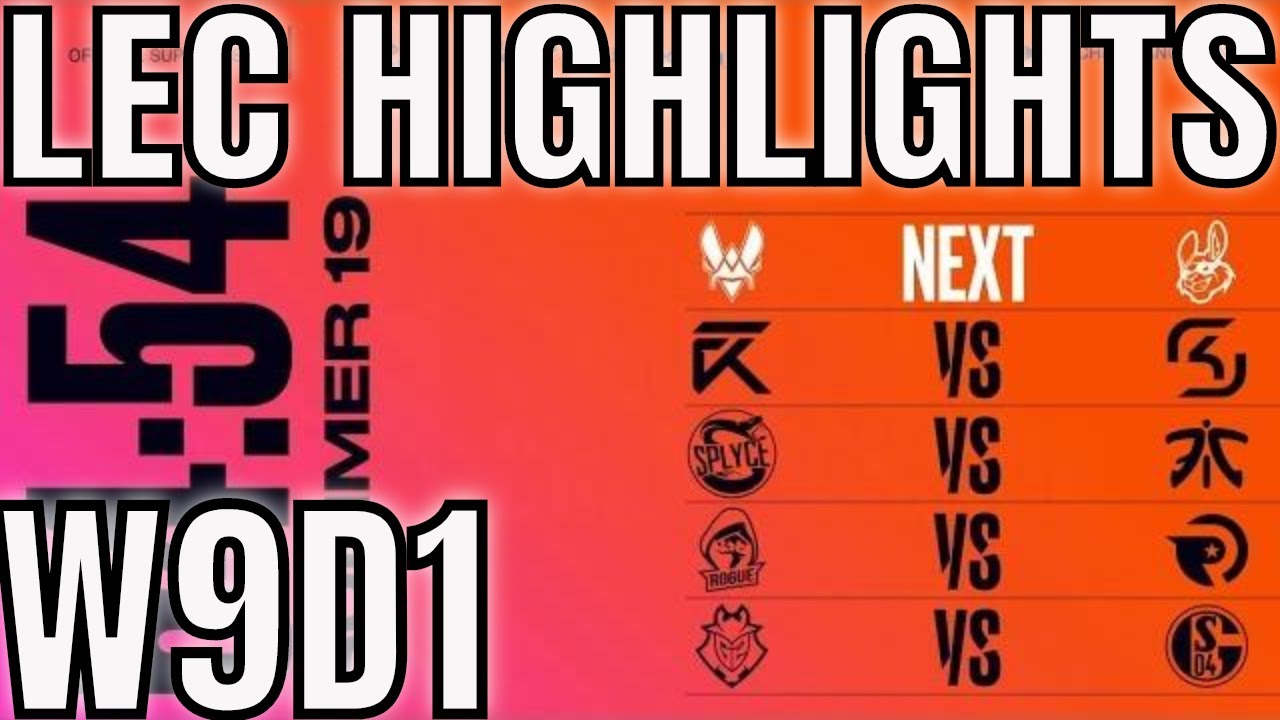 LEC Highlights ALL GAMES Week 9 Day 1 Summer 2019 League of Legends EULCS