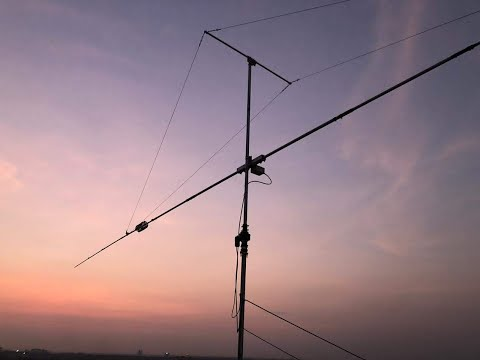 Rotary Dipole Antenna 40 M Band  (7-7.2MHz)  Installation @ VU2OY Shack Designed By VU3GNL