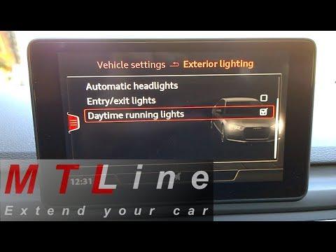 Audi A4 B9 My2016 Drl Menu Option Activation Vključitev Menija