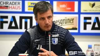 Pressekonferenz - 1. FC Magdeburg gegen BFC Dynamo 1:1 (1:0) - www.sportfotos-md.de
