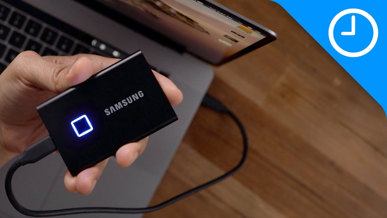 Review: Samsung T7 Touch portable external SSD with fingerprint sensor -  YouTube