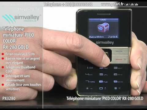 TÉLÉPHONE MINIATURE ''PICO COLOR RX-280'' GOLD