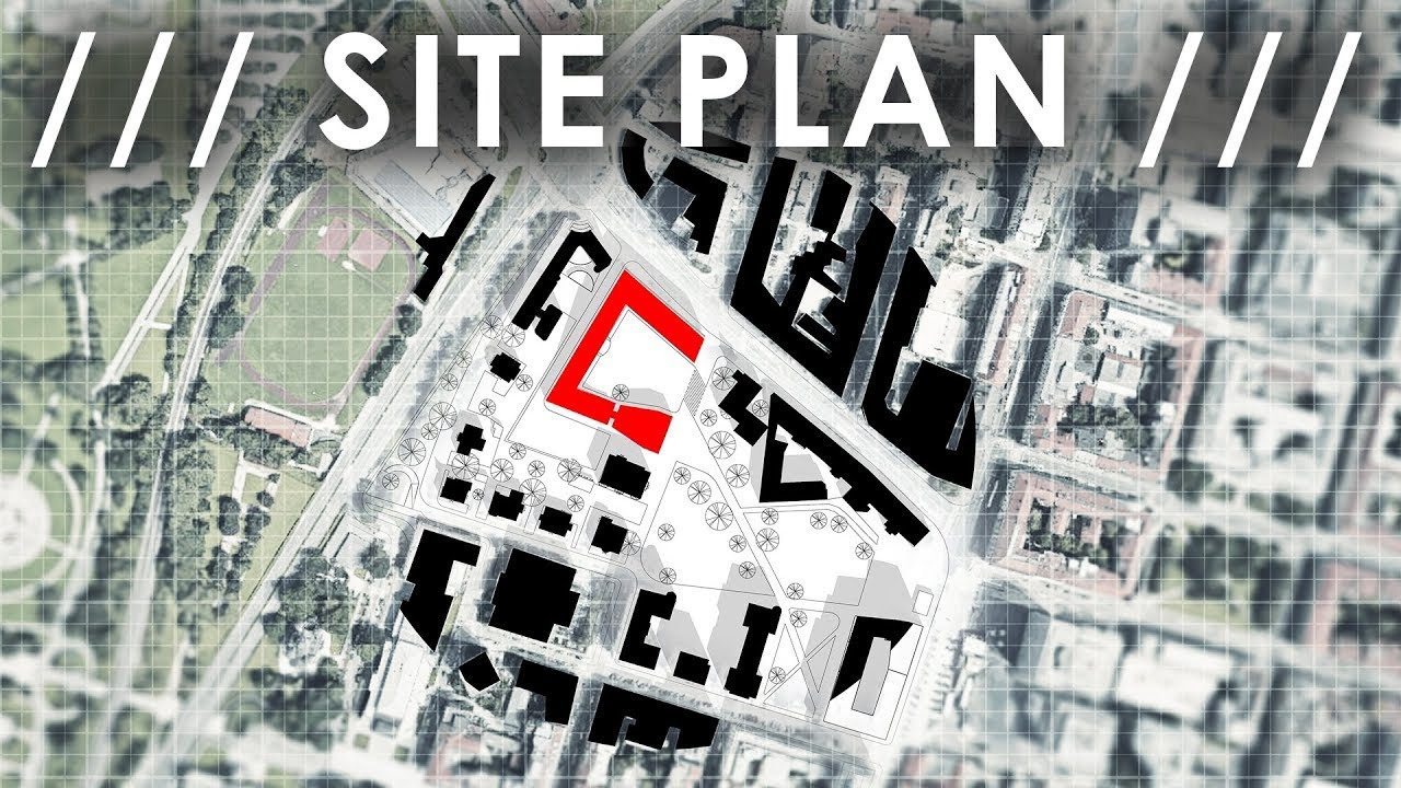 plan site architectural competition photoshop tutorial