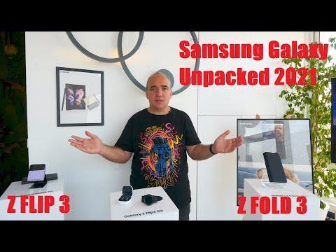 Samsung Galaxy Unpacked: lansarea oficială Z Fold 3 și Z Flip 3 + ceas Watch 4 și căști Buds 2