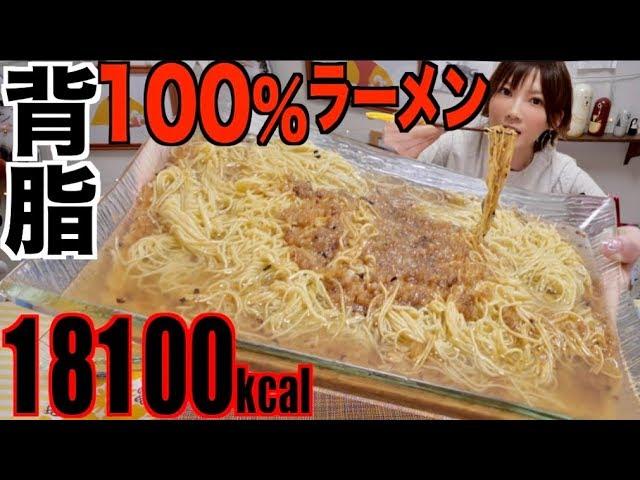 【大食い】背脂100%ラーメン自作してみたら激ヤバすぎた![背脂2キロ使用] 18100kcal【木下ゆうか】