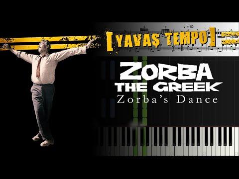 Zorba's Dance [Piano]+[Music Sheet]+[Synthesia]+[Half Speed]