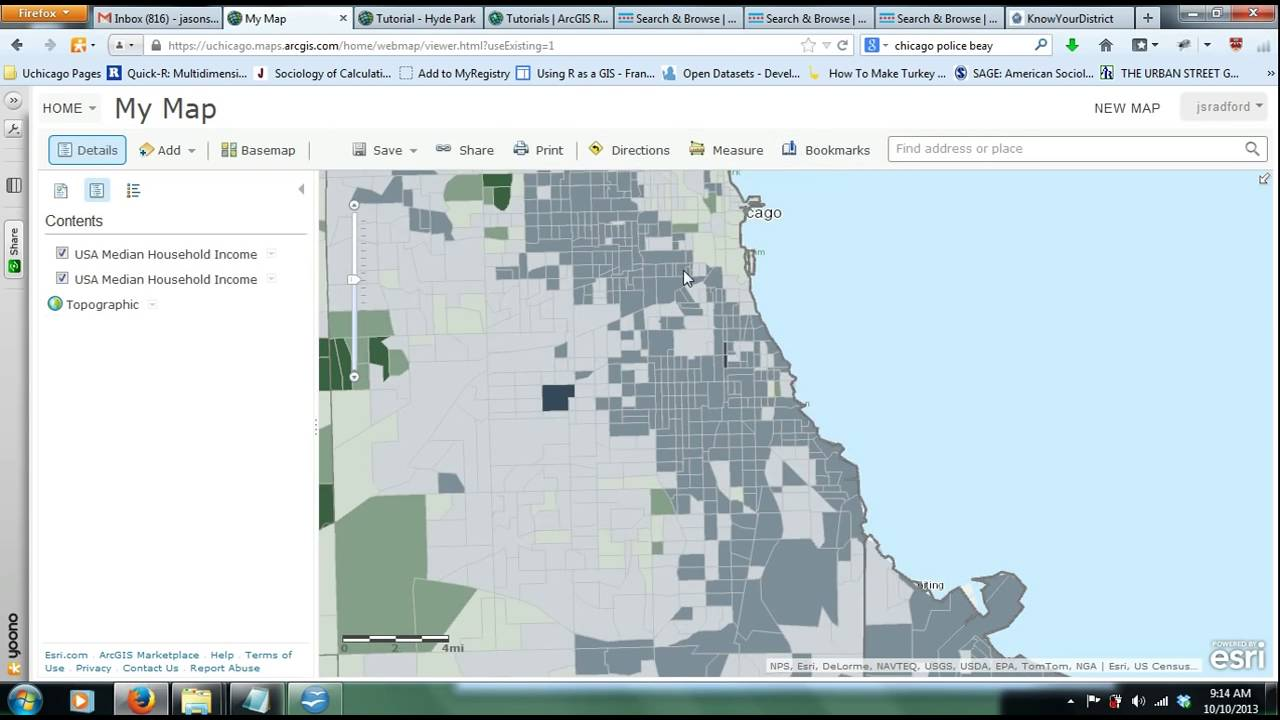 ArcGIS Online Tutorial Of Use Maps From ESRI YouTube - Making map of us in r