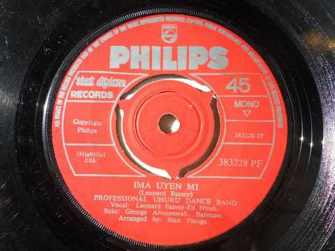 Professional Uhuru Dance Band - Ima Uyen Mi (Efik) (Philips 383228.Pf)