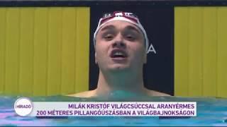 Milák Kristóf világcsúccsal aranyérmes 200 méteres pillangóúszásban a világbajnokságon