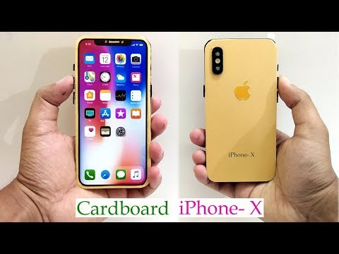 How to Make iPhone-X With Cardboard || DIY Apple latest iphone || Easy craft ideas