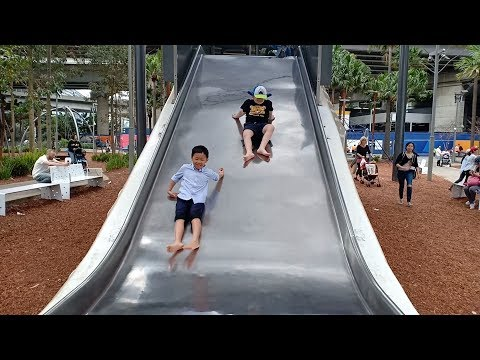 Outdoor Playground For Kids Family Fun Play Area, At Darling Harbour Sydney