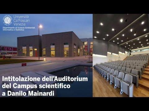 Live streaming - Intitolazione dell'Auditorium del Campus Scientifico a Danilo Mainardi
