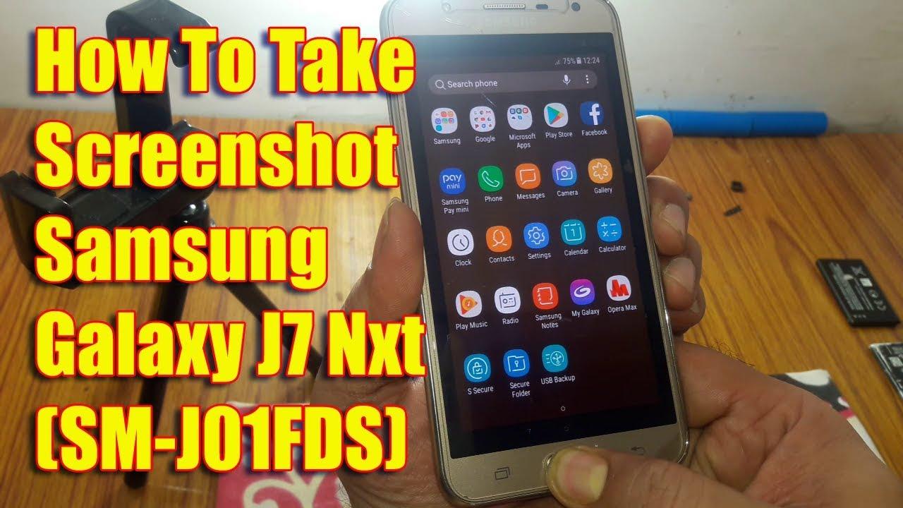 How To Take Screenshot Samsung Galaxy J11 Nxt (SM-J11FDS) - YouTube