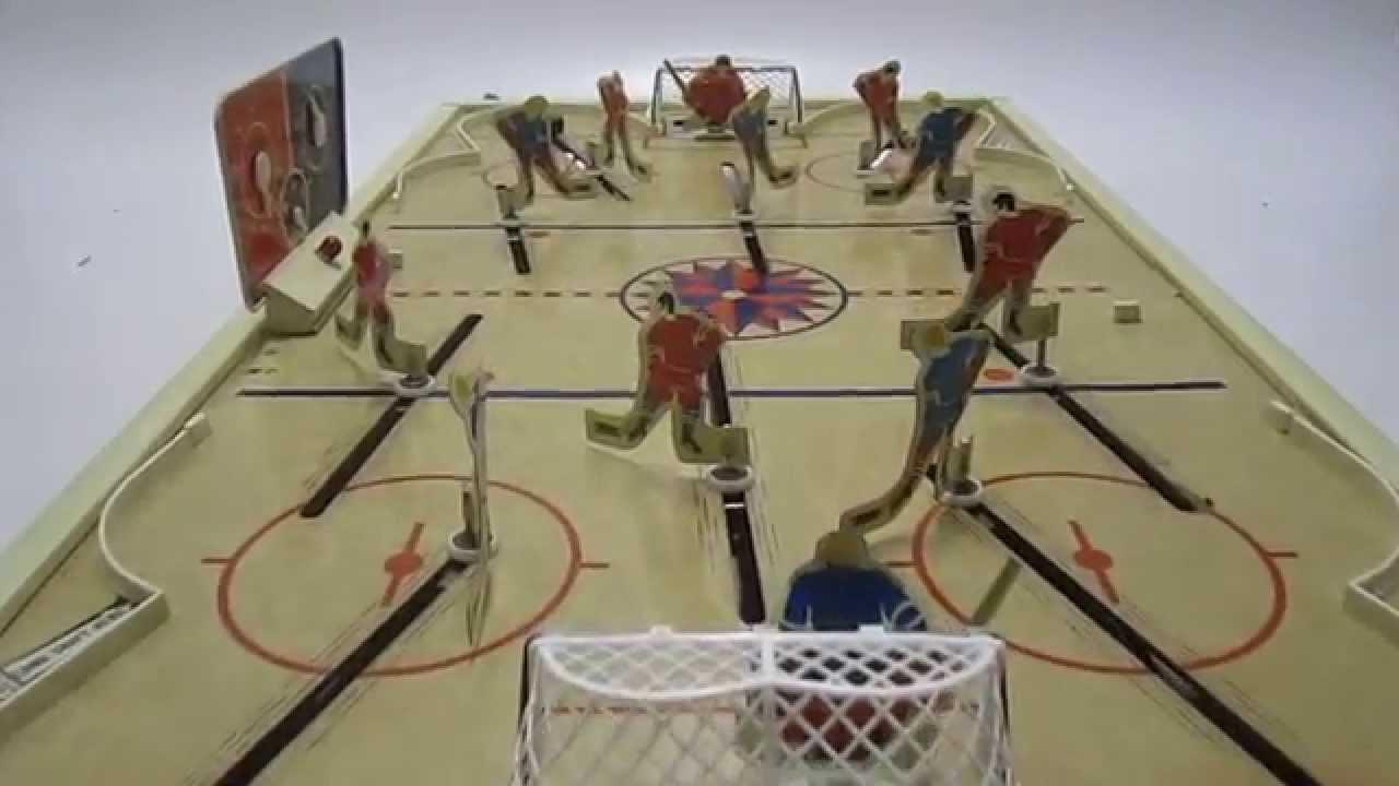 Vintage table hockey - Vintage Tabletop Tudor Tru Action Deluxe Electric Scoring Hockey Game Youtube