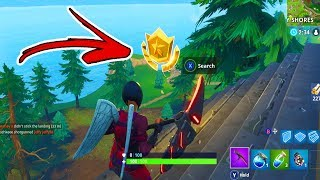 """Follow the treasure map found in Greasy Grove"" WEEK 5 Star Location! - Fortnite Battle Pass Week 5"