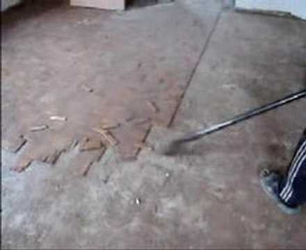 Removing Parquet Flooring Youtube