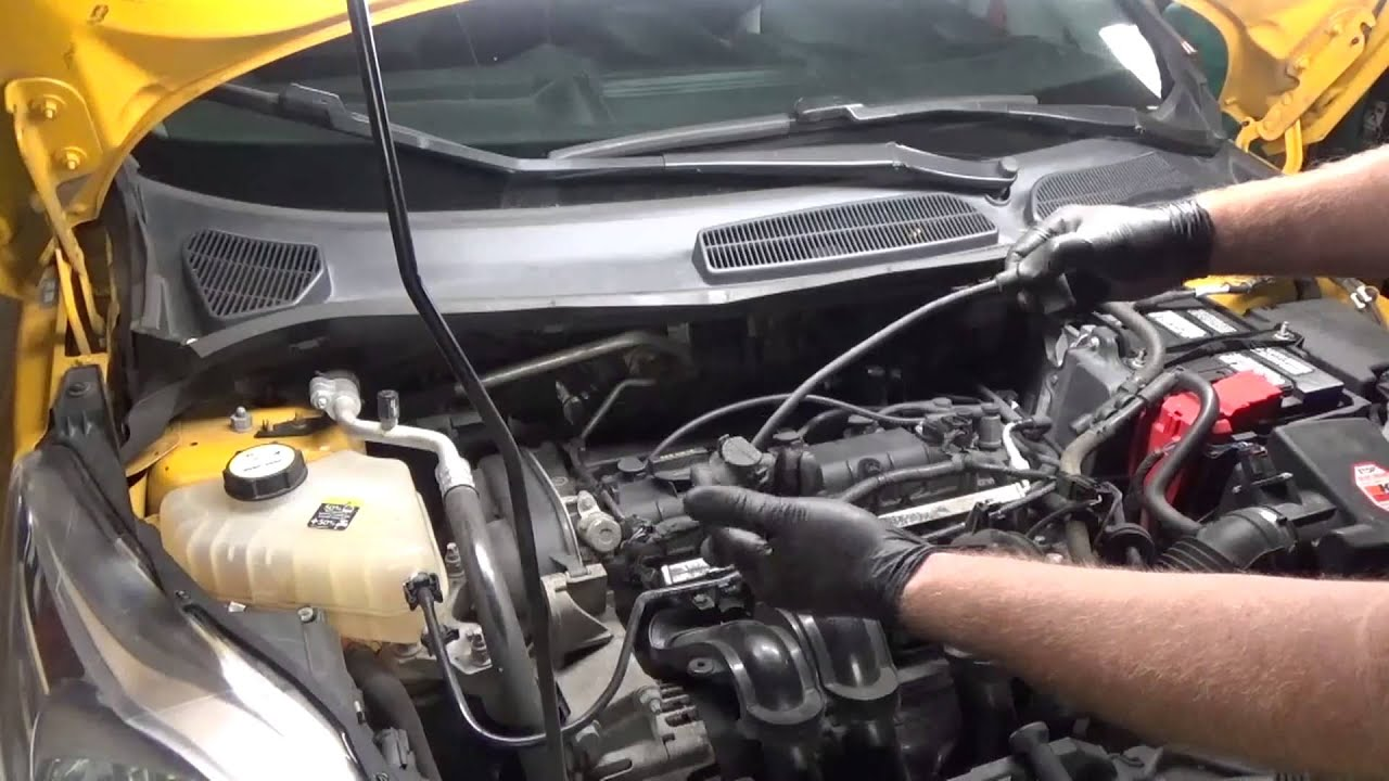 ford fiesta spark plugs and wires 2011 youtube rh youtube com 2012 ford fiesta wiring 2014 ford fiesta wiring diagram