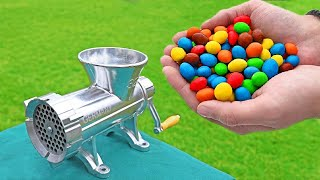 EXPERIMENT COLORFUL CANDY VS MEAT GRINDER * best compilation