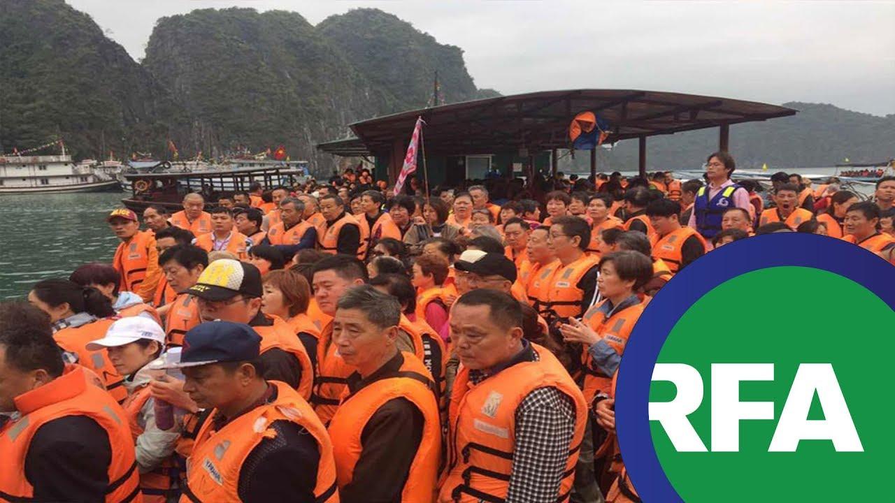 Hình ảnh khách Trung Quốc tràn lan tại Hạ Long