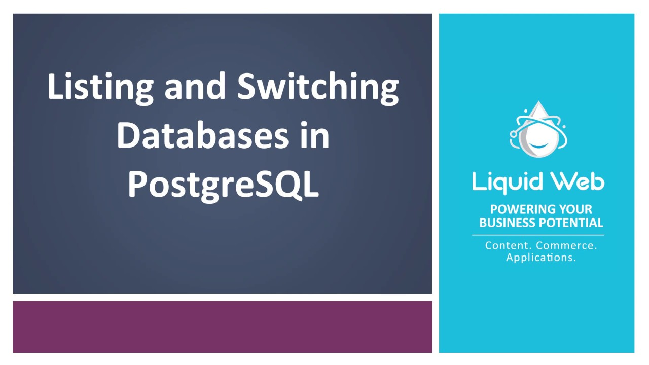 Listing and Switching Databases in PostgreSQL | Liquid Web