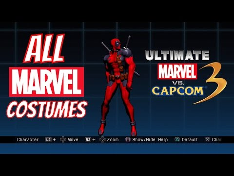 All MARVEL Costumes Ultimate Marvel vs Capcom 3 (Playstation 4 Pro)