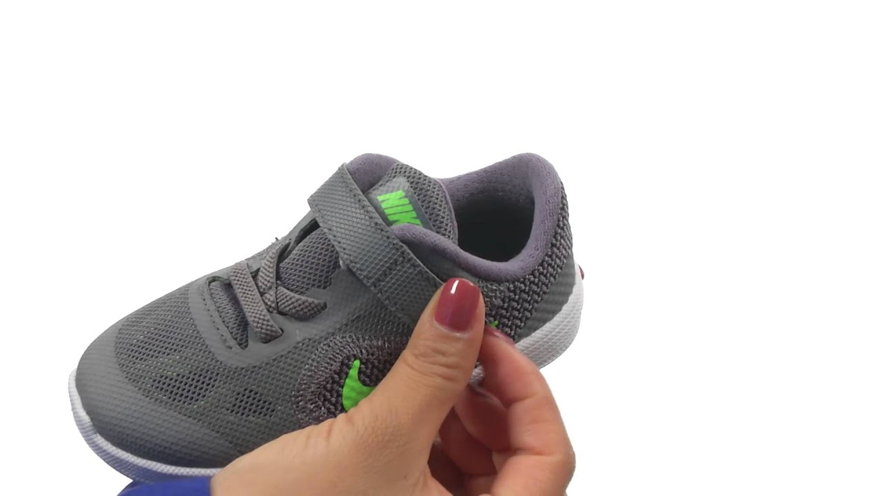 eb574711ef2 Nike Kids Revolution 3 (Infant Toddler) SKU 8621638 - YouTube