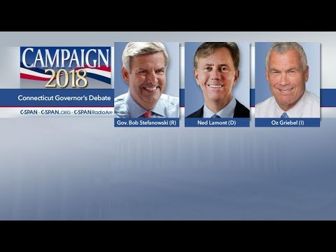 Connecticut Gubernatorial Debate Bob Stefanowsk vs Ned Lamont Vs Oz Greibel  Oct 18, 2018