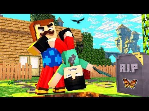 Minecraft - Hello Neighbor - MY NEIGHBOR BURIED ME ALIVE?