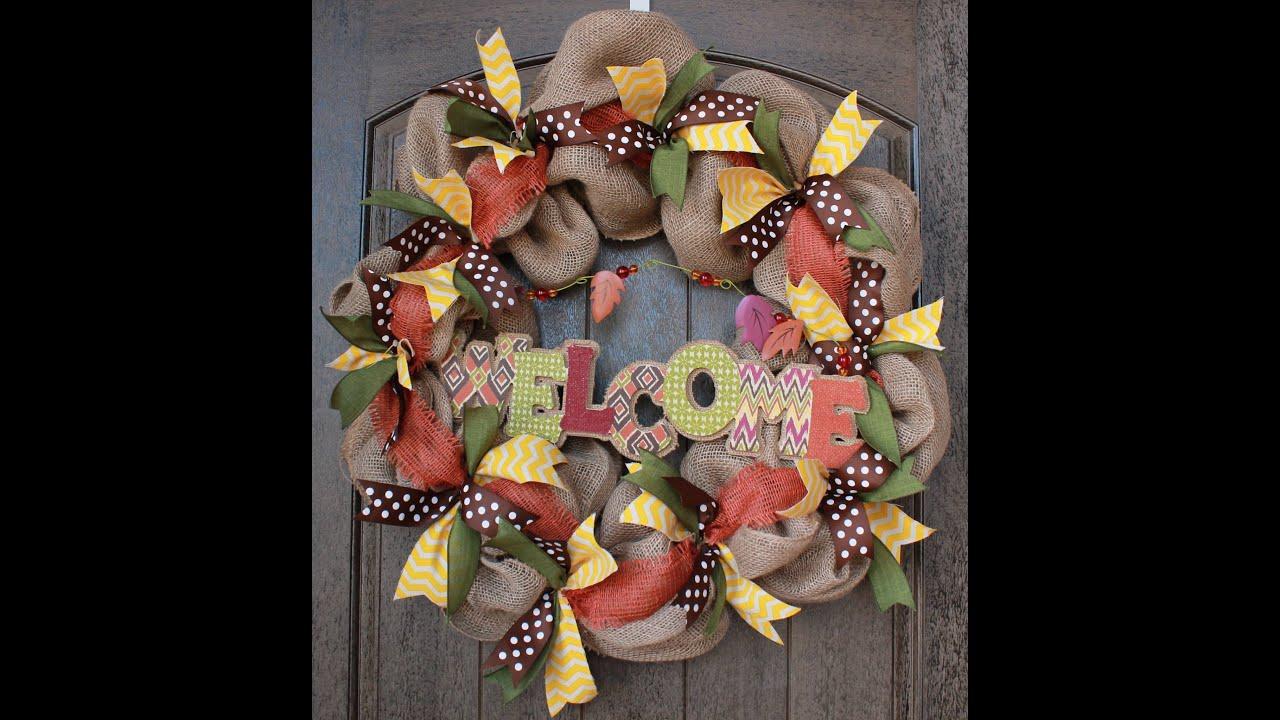 Burlap Wreath Tutorial Part 2 Adding Ribbon