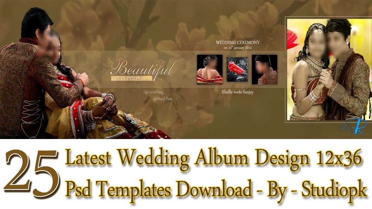 25 Latest Wedding Album Design 12x36 Psd Templates Download By Luckystudio4ucom