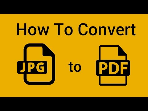 How To Convert JPG To PDF File Format Windows 8 Windows 10