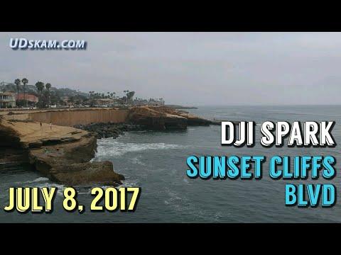 DJI Spark Drone Footage at Sunset Cliffs Blvd - Ocean Beach - San Diego, CA