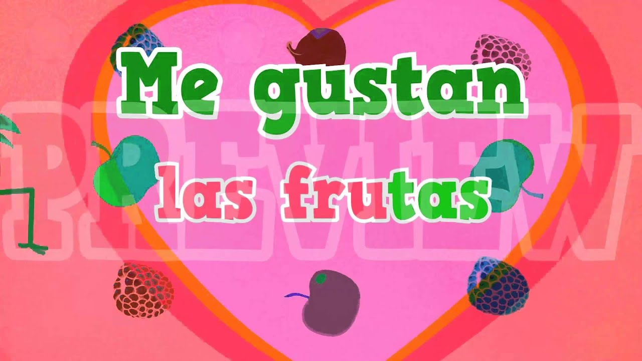 La Fruta Song And Video To Learn Names Of Fruits In Spanish For Kids