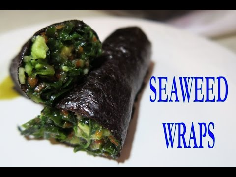 Cucumber Avocado Seaweed Wrap Raw Vegan Recipe