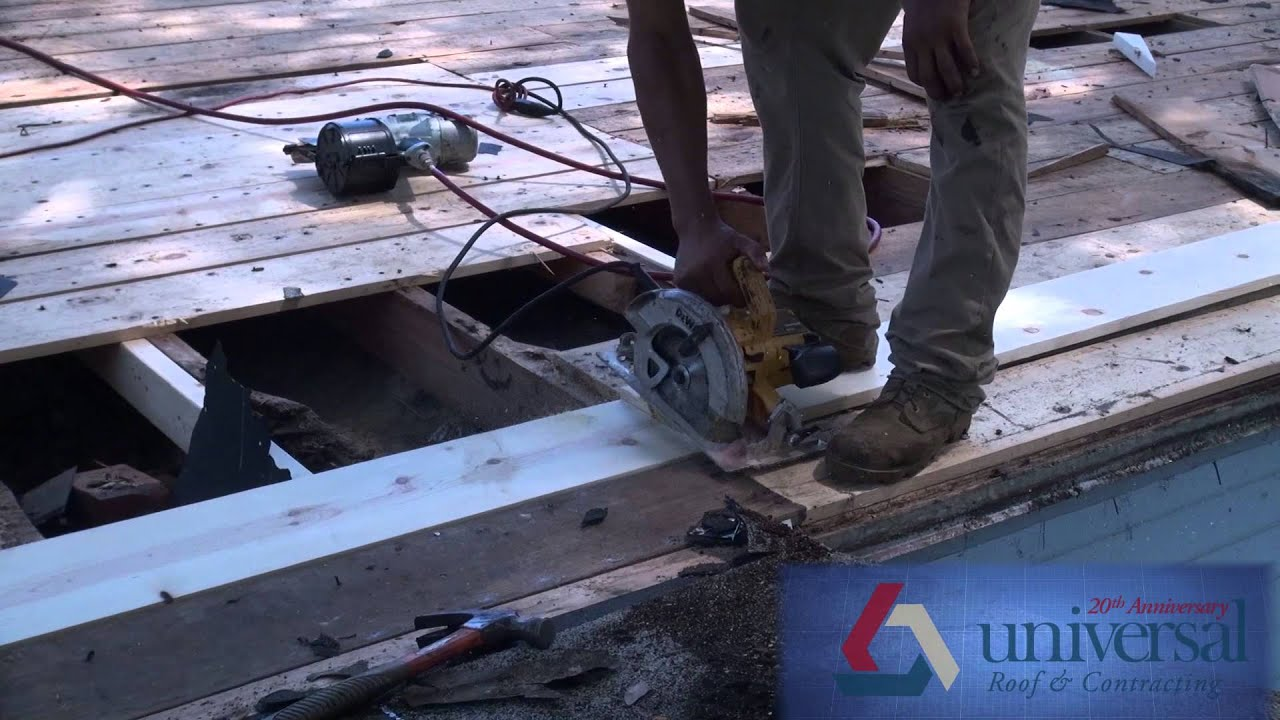 roof repair and wood rot youtube