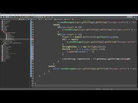 Bukkit Speed Coding #1 - ReportGUI