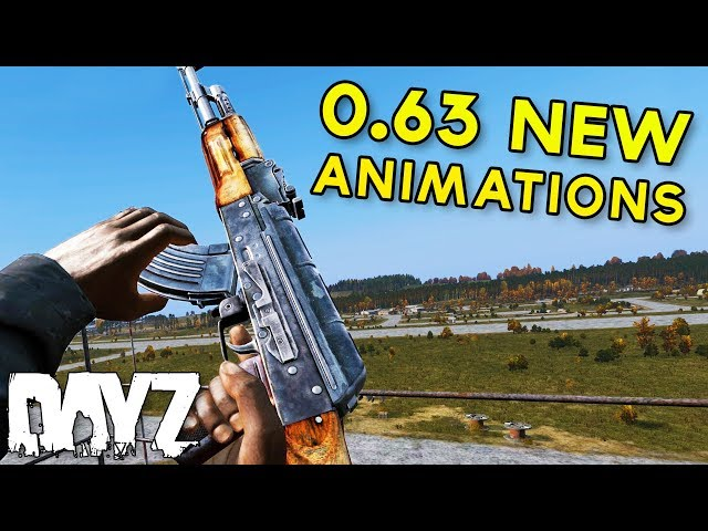 #DayZ 0.63 NEW Weapon Animations - AKM, MP5, CR75 & MORE!