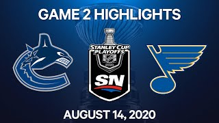 NHL Highlights   1st Round, Game 2: Canucks vs. Blues – Aug. 14, 2020