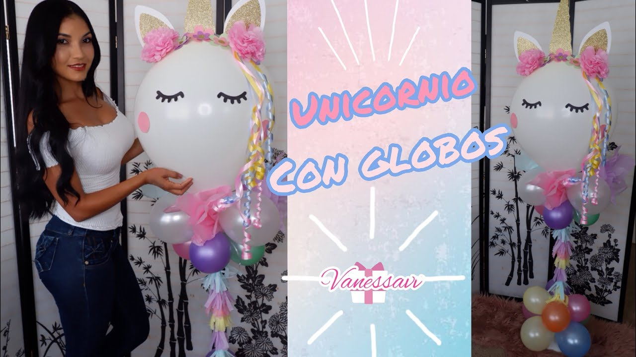 Decoraci n de unicornio con globos para fiestas de - Como hacer decoracion de cumpleanos ...