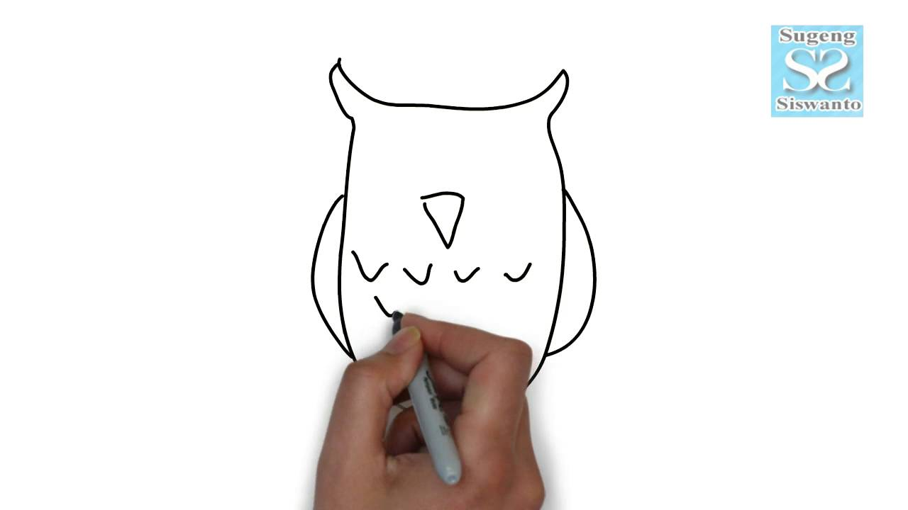 Menggambar Binatang Burung Hantu Draw Animals Owl Youtube