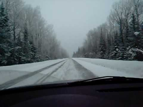 driving the Gunflint trail in Grand Maris