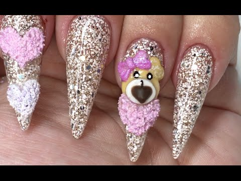 Valentines Day Stiletto Nails Youtube