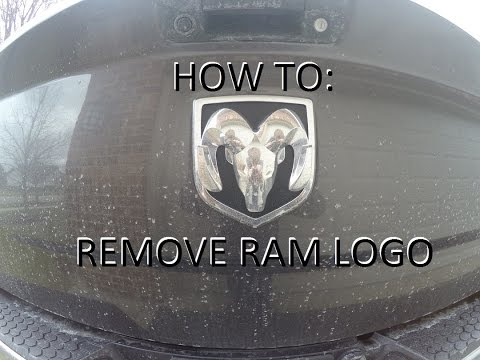 How To Replace Ram Emblem On Tailgate Remove Youtube
