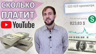 Сколько платит ютуб за 1000 просмотров - Деньги YouTube за миллион просмотров