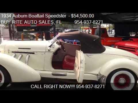 1934 Auburn Boattail Speedster   - for sale in FT LAUDERDALE