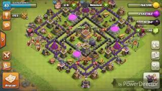 Colocando rei bárbaro no nível 9 ao vivo no clash of clans