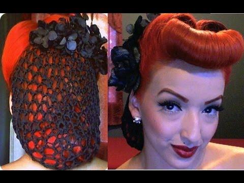 Vintage Pinup Snood Hair Tutorial YouTube