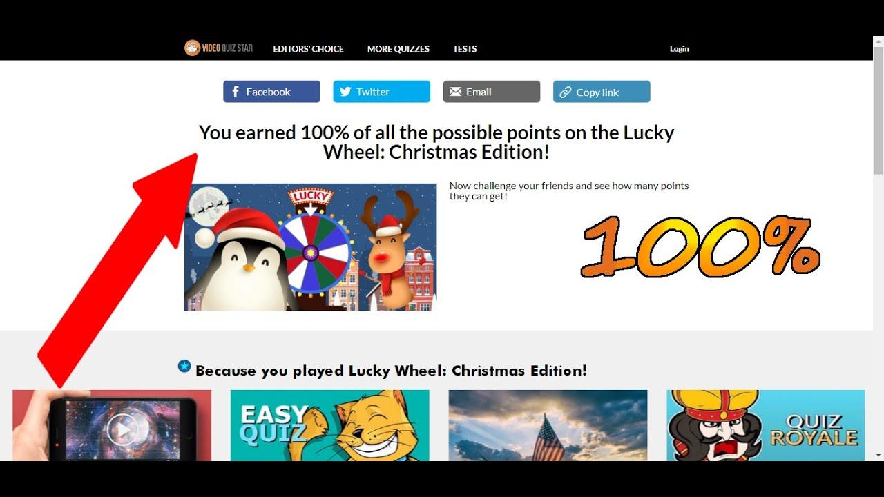 VideoQuizStar – Lucky Wheel: Christmas Edition! QUIZ ANSWERS | RESPUESTAS 100% - YouTube