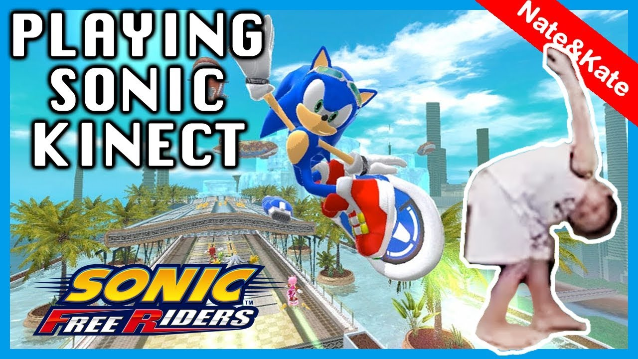 Nate Plays Sonic Free Riders For Xbox Kinect Goes Crazy