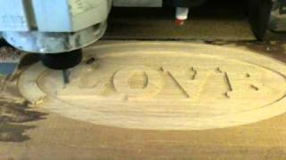 "Biesse ""duzzit"" cnc . fast oak roughing (love part1)"